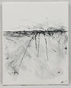 No.921 Original Abstract Modern Minimal Landscape Drawing By K.A.Davis