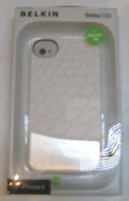 Genuine Belkin Hard Case/Cover iPhone 4/4S White with Metal Panel F8Z864Meta 030