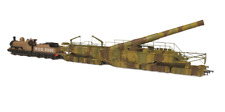 Oxford Rail OR76BOOM01XS Rail Gun WWI Boche Buster Camouflage DCC Sound OO Gauge