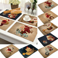 Home & Living Christmas Decoration Table Pads Placemat Mat Christmas Tablecloth