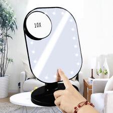 10X Anti-Fog Suction Cup Bathroom Shower Makeup Shaving Mirror Pores Magnifier