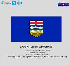"3.5"" x 7.5"" Alberta Flag Laminated Vinyl Decal"