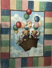 Daisy Kingdom Balloon Ride Quilt Wall Hanging Fabric 36 x 45 Panda Bunny  F294