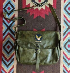 RRL Double RL Ralph Lauren Leather Shoulder Messenger Mail Bag Portfolio
