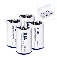 4PCS EBL 800mAh 3V Lithium CR2 Battery ( DLCR2 ELCR2 CR17355 ) w/ Storage Case