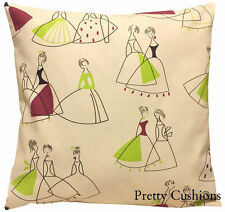 Sanderson Fifi Lime & Purple Cushion Cover 16'' Retro Chic 50's