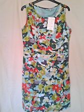 Adini 100% cotton sundress self half belt sidezip opening fully lined sleeveless
