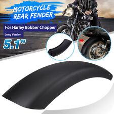 5.1'' Long Motorcycle Rear Fender Mud Guard Steel For Harley Bobber Chopper