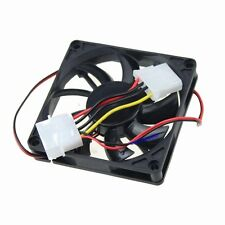 80mm DC Fans 12V 4Pin 80x80x15mm 8cm For Computer PC Case Cooling 8015S
