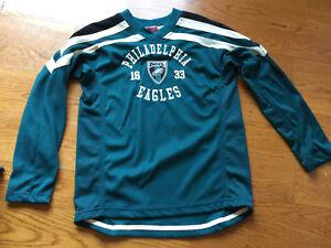 NFL PHILADELPHIA EAGLES Shirt, Established 1933, Long Sleeve Boys Size L 16 / 18