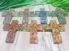 Set of 7 Chakra Orgone Cross Pendants for Orgone Healing ~ ORG521