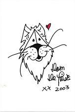 2003 Dom DeLuise Autographed Signed Hand Drawn Original Lion Sketch