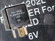 Lastunabhängig Blinkrelais LED-geeignet 6V  0,05-15A 3-Polig Relais Blinker Neu