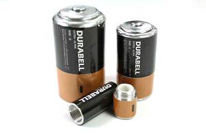 Batterie Versteck Typ AA / C / D Cache Versteck Tresor Geocache Safe Geocaching