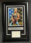 Bruce Springsteen Signed 3x5 Cut Autograph AUTO Framed 15x23 w/ Photo JSA LOA
