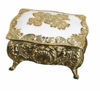 Vintage Antimony Jewelry Box Antique Styling Trinket Box