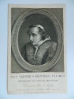 Gravur Comics Und Graviert Von Joseph Mochetti Porträt Papst Pie VII Chiaramonti
