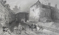 CANADA Quebec Prescott Gate - BARTLETT Antique Print