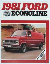 Ford 1981 Econoline E-100 E-150 E-250 E-350 Van Dealer Sales Brochure Version 1