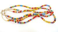 Two Vintage African Trade Seed Beads 4x8mm 24 inch Strands Jewelry Africa