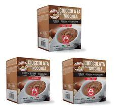 30 x Caffè Bonini Cioccolata Nocciola Einzel - Beutel Trinkschokolade Haselnuss