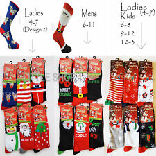 3,6 12 Socks Mens Ladies Christmas Socks Novelty Kids Stocking Filler Xmas Gift