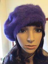 New Christmas Winter Angora Wool Elegant Beret Beanie Parisian Hat Lili & Poppy