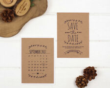 Rustic Kraft Save the Date Cards