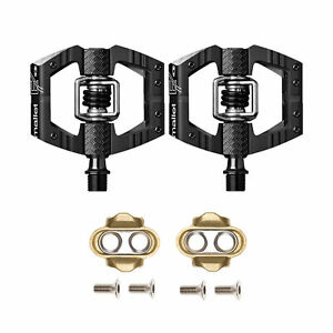 Crankbrothers Mallet Enduro MTB Bike Pedals Pair, Black, Includes Cleats