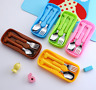 Portable Stainless Steel Cutlery Fork Spoon Sets Flatware Set Children Supplies