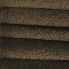 1/4 yd VIS1/SCM Antq. Brown INTERCAL 6mm Med. Dense Curly Matted Viscose Fabric