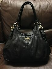 NO RESERVE Authentic Coach Women's HandBag Purse Leather Shoulder Bag