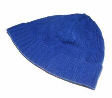 Polo Ralph Lauren Women Cashmere Cable Skull Beanie Winter Cap Hat Blue XS Small