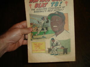 1971 Atlanta Braves Baseball Rico Carty TB Christmas Seal Red Cross comic book