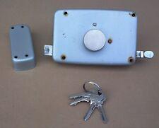 Ancienne serrure à double tour + gâche 4 clés porte portail old double-turn lock