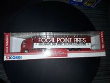 CORGI 1/64 TY86704 VOLVO CURTAINSIDER 'FOCAL POINT FIRES' LIVERY HGV MODEL