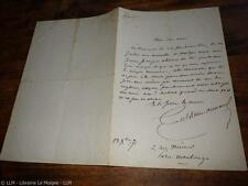 1871.Lettre  autographe .Gustave Aimard