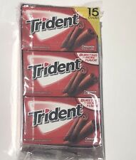 Trident Cinnamon Sugar Free Chewing Gum (15) 14 Pc Packs 210 Pcs Fresh Bulk