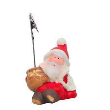"""portatarjetas Navidad"""" Papá Noel """" 10x7x6cm CON BRILLO discreto cerámica"""