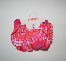NWT Gymboree Bright and Beachy Neon Pink Dot Ponytail Hair Scrunchie