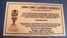 206-2007 Ashes Series Australia 5-0 defeated England Gold Sublimated Plaque