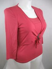 Wrap Casual Solid Plus Size Tops & Blouses for Women