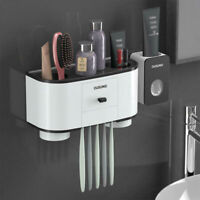 Magnetic Adsorption Inverted Cup Toothbrush Holder  Wall Mount Bathroom