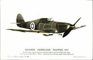 Hawker Hurricane Fighter 1937 RPPC postcard The Science Museum RAF WW2