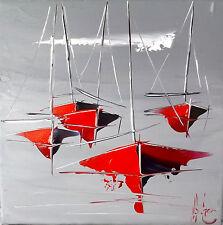 Original DOUCHEZ Tableau Peinture huile sur toile au couteau Bretagne Artmajeur