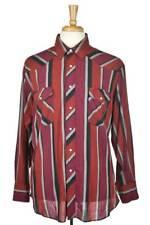 Rustler Men Tops Button Down Shirt XL Red Cotton