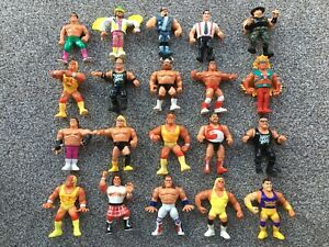 90's Hasbro WWF 20 Action Figure Bundle Wrestlers IRS Nasty Boys Repo Man Joblot