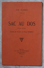 SAC AU DOS (and so to war) Joe CORRIE 1936 mineur écossais trad. Raoul Leclercq