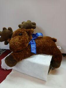 Aurora World Plush - Moose (8 inch) Stuffed Toy w Blue Ribbon Alaska 2005