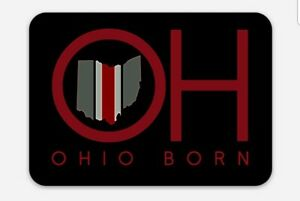 OSU MAGNET - OHIO BORN Ohio State Buckeyes tribute magnet neon looking NCAA